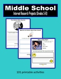 Middle School Internet Research Projects (Grades 5-8) - Distance Learning