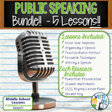 PUBLIC SPEAKING, DEBATE, and SPEECH BUNDLE!! - 5 LESSONS!!! - Middle School