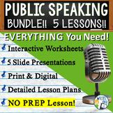 Public Speaking, Speech and Debate Bundle | 5 Lessons | Pr