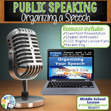 Public Speaking Speech Debate  Organizing a Speech Lesson Google Classroom Ready