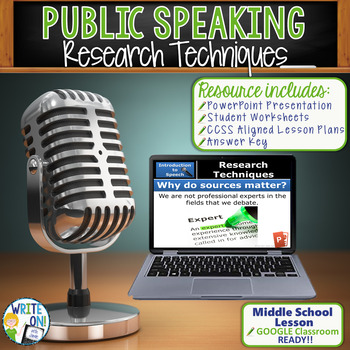 PUBLIC SPEAKING, DEBATE, AND SPEECH - RESEARCH TECHNIQUES - Middle School