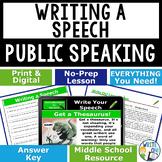 PUBLIC SPEAKING, DEBATE, AND SPEECH - WRITING A SPEECH - Middle School