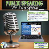 PUBLIC SPEAKING, DEBATE, AND SPEECH - WRITING A SPEECH - M
