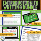 INTRODUCTION TO WRITING BUNDLE - 8 LESSONS!!!!! - Middle School
