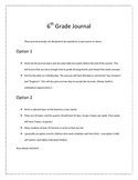 Middle School Journal Expository and Persuasive
