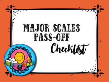 Middle School Junior High Band Scale Pass-off Checklist