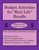"Budget Activities Bundle for ""Real Life"" Situations (Editable!)"