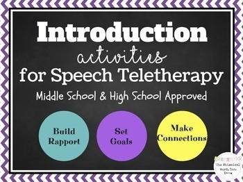 Middle School Junior High Teletherapy Bundle NO PRINT Lessons