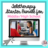 Teletherapy Bundle for Middle/High School No Print Speech   Distance Learning