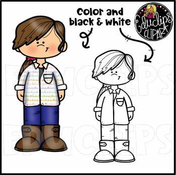 Middle School Kids Clip Art Collection {Educlips Clipart}