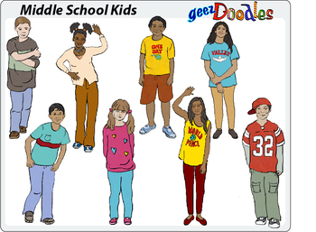 Middle School Kids Clipart