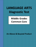 Language Arts Common Core Diagnostic Benchmark Pretest Gra