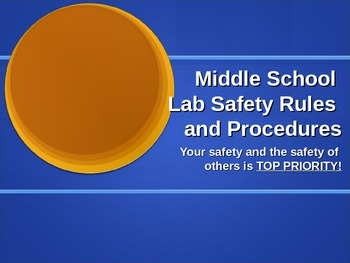 Middle School Lab Safety Ppt and Notes/Signature Page for Interactive Notebooks