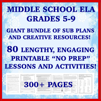Substitute Plans Middle School Teaching Resources Teachers Pay