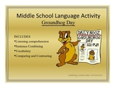 Middle School Language Activity-Groundhog Day