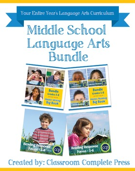Middle School Language Arts Bundle Gr. 3-8