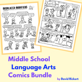 Middle School Language Arts Bundle: Grammar Comics