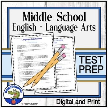 Middle School Language Arts Essential Study Guide Test Prep