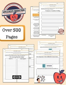 Fountas & Pinnell Style Guided Reading Mini Lessons and Worksheets (Entire Year)