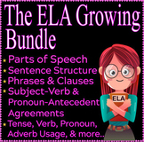 Middle School Grammar Resources | Year Long Growing Bundle | ELA