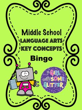 Middle School Language Arts Key Concepts Bingo