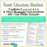 Middle School Language & Conversation Facilitation & Carryover Parent Education
