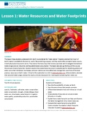 Middle School — Lesson 1: Water Resources and Water Footprints