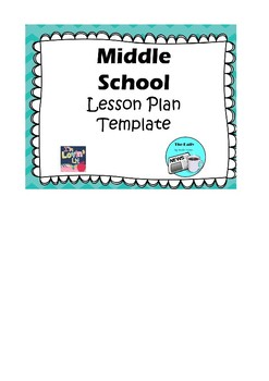 Middle School Lesson Plan Template