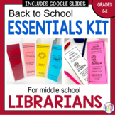 Middle School Librarian Back to School Essentials Bundle