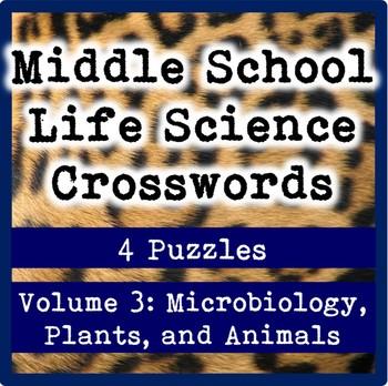 Middle School Life Science (Biology) Crosswords Volume 3: Biodiversity