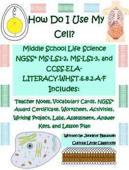Middle School Life Science- How Do I Use My Cell?