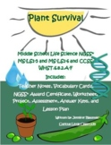 Middle School Life Science- Plant Survival