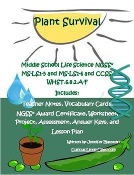 Middle School Life Science- Plant Survival
