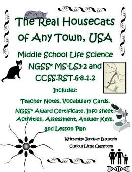 Middle School Life Science- The Real Housecats of Any Town, USA