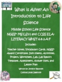 Middle School Life Science- What is Alive? An Introduction to Life Science