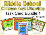 Middle School Literature Task Card Bundle 1