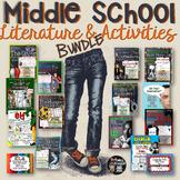 ELA MIDDLE SCHOOL LITERATURE AND ACTIVITIES BUNDLE