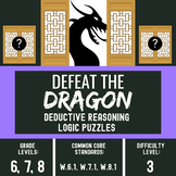 ELA Center Activity for Critical Thinking Skills - Defeat the Dragon #3