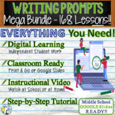 WRITING PROMPTS / LESSONS MEGA BUNDLE - 168 Lessons!!!! - Middle School