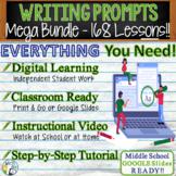 Writing Prompts Mega Bundle   168 Essay Lessons   Print and Digital