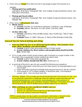 Expository Research MLA Citation Formatting Quick Guide