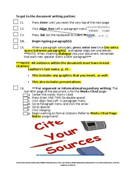 Expository Research Unit: MLA Typed Paper Formatting Checklist