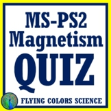 Middle School Magnetism QUIZ Assessment NGSS MS-PS2-3 & MS-PS2-5
