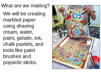 Middle School Marbled Paper Graffiti Lesson Plan Presentation