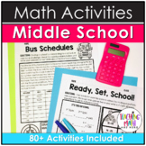 Math Activities Middle School BUNDLE | Includes Thanksgiving Math Activities