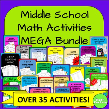Middle School Math Activities MEGA Bundle
