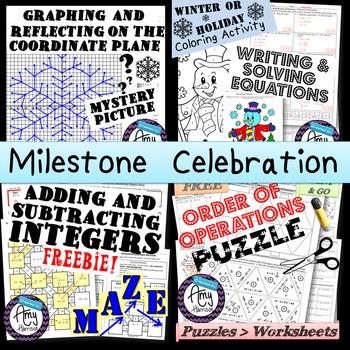 Middle School Math Activities - Milestone Celebration