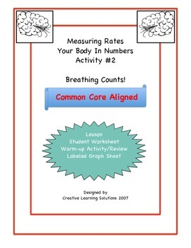 Middle School Math Activity #2 for Unit Rates & Ratios:Breathing Counts!