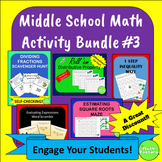 Middle School Math Activity Bundle #3