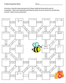 Middle School Math Activity Bundle #3